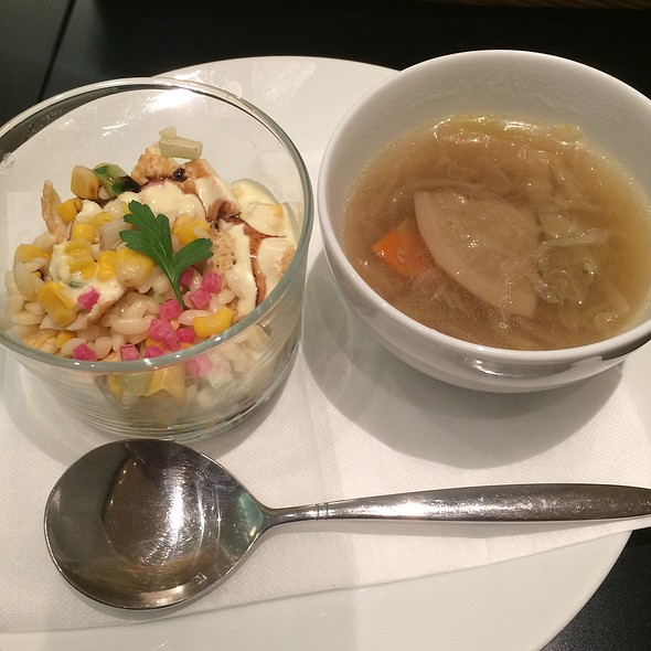 French Onion Soup And Side Salad @ ティ・ロランド 西武渋谷店 (Ti Roland)