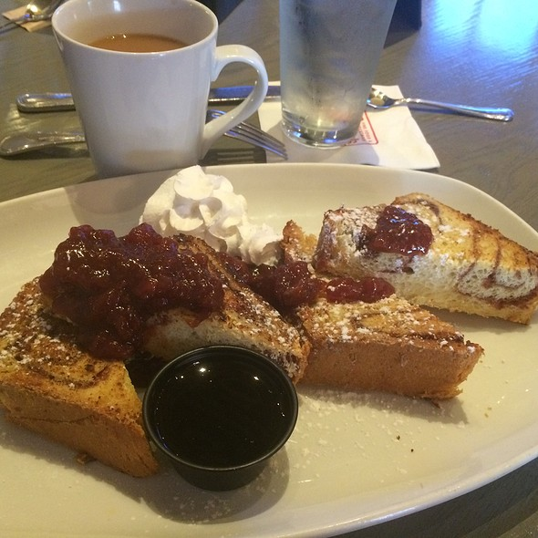 Cinnamon Swirl French Toast With Strawberry Compote And Orange Whipped Cream - Ms. Rose's, Charleston, SC