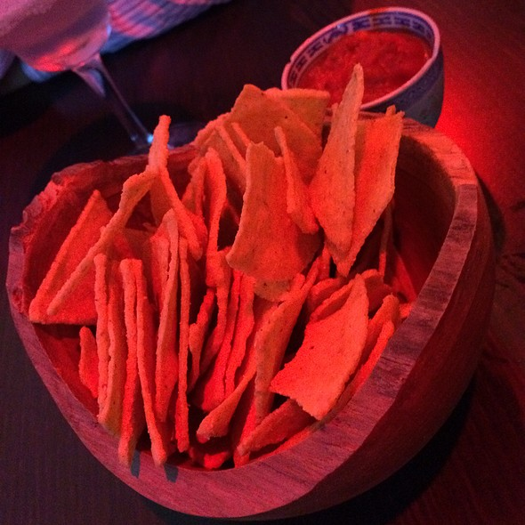 Tortilla Chips With Tomato Dip @ Bar Nine