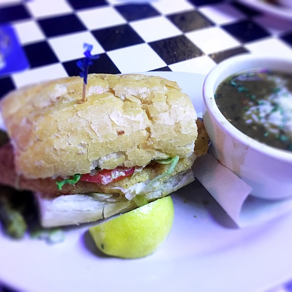 1/2 Fish Poboy/Chicken Gumbo @ Acme Oyster & Seafood House