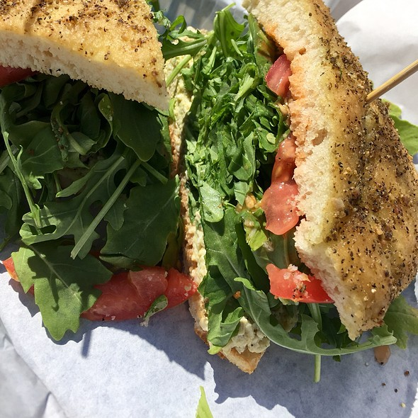 Hummus Sandwich @ Cafe Aquatica