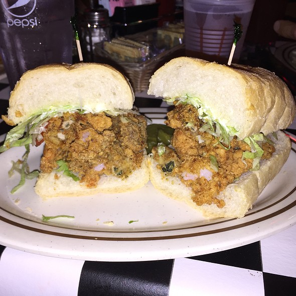 Shrimp and Oyster Po Boy @ Acme Oyster House