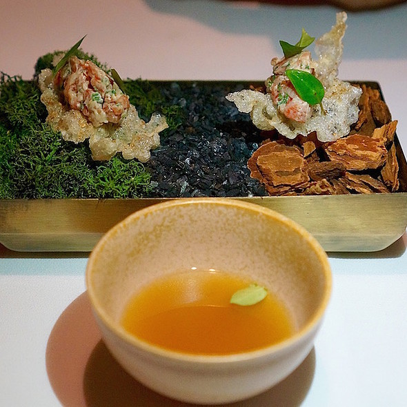 Beef tendon, wagyu tartare, Vietnamese coriander