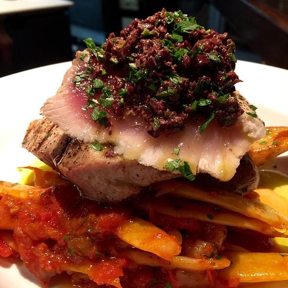 American Albacore Tuna With Black Olive Tapenade