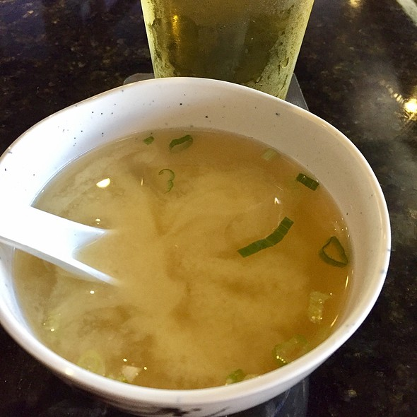 miso soup. @ Blue Fin Sushi & Thai Grill