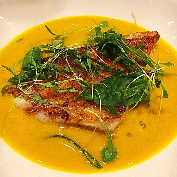 Panfried Seabass With Pumpkin Soup @ Wildflour Cafe + Bakery