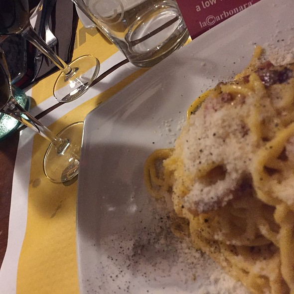 Spaghetti alla Carbonara @ La Carbonara