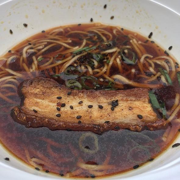 Buckwheat Soba Noodles Roasted Pork Belly & Tsuyu