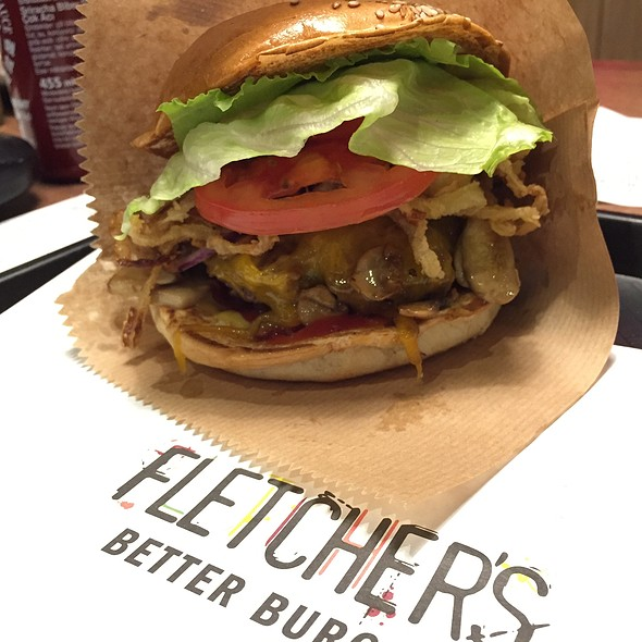 Bacon/Cheese Burger @ FLETCHER'S BETTER BURGER