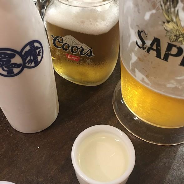 Gekkeikan Cold Sake And Sapporro Draft Beer @ nikkyu japanese restaurant