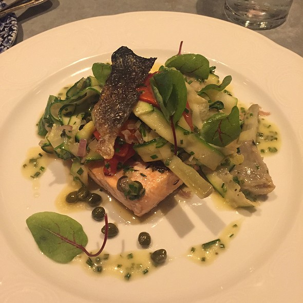Slow Cooked Salmon @ The Riggsby