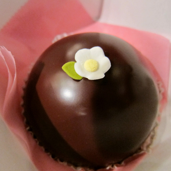 mini scharffen berger cake @ Miette Cakes