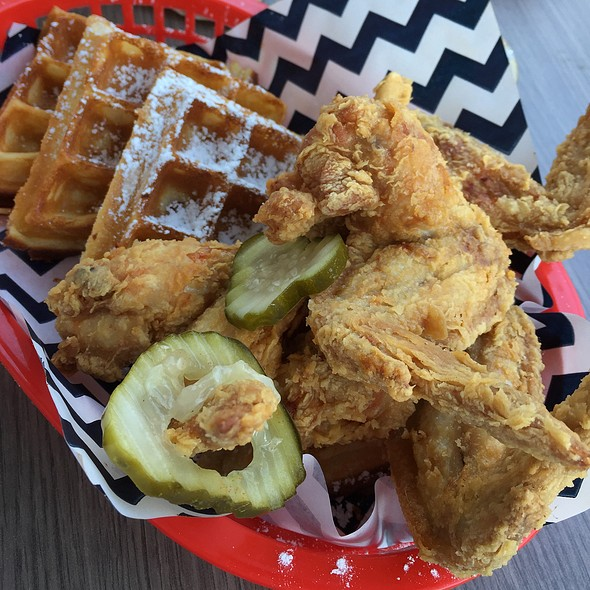 Chicken and Waffles @ Belles Hot Chicken