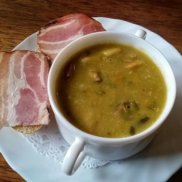 Traditional Dutch Pea Soup @ Restaurant De Kroonprins