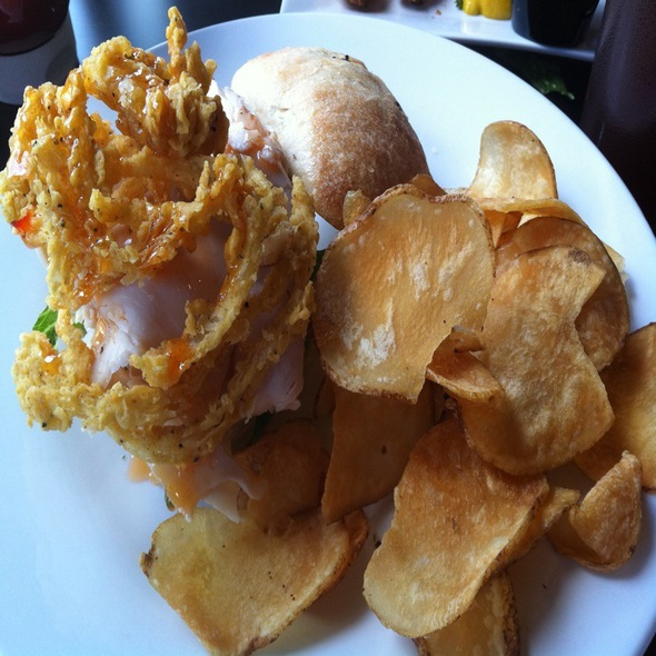 Turkey Sandwich And Fresh Chips @ The Bungalow