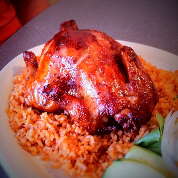 Fried Cornish Game Hen with Fried Rice