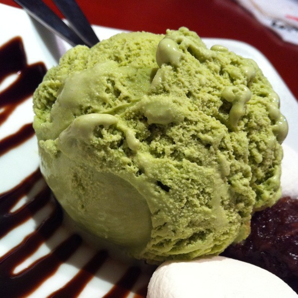 Green Tea Ice Cream @ Bankara Ramen