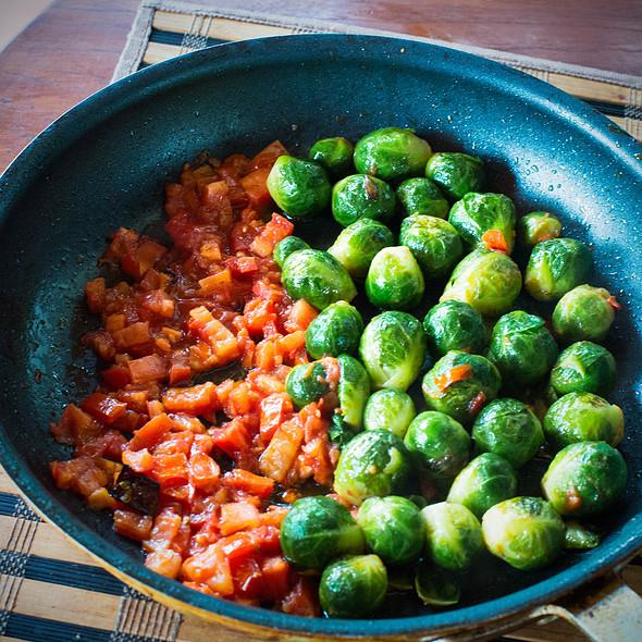 Sprouts and tomatoes @ Villa Strelitzia