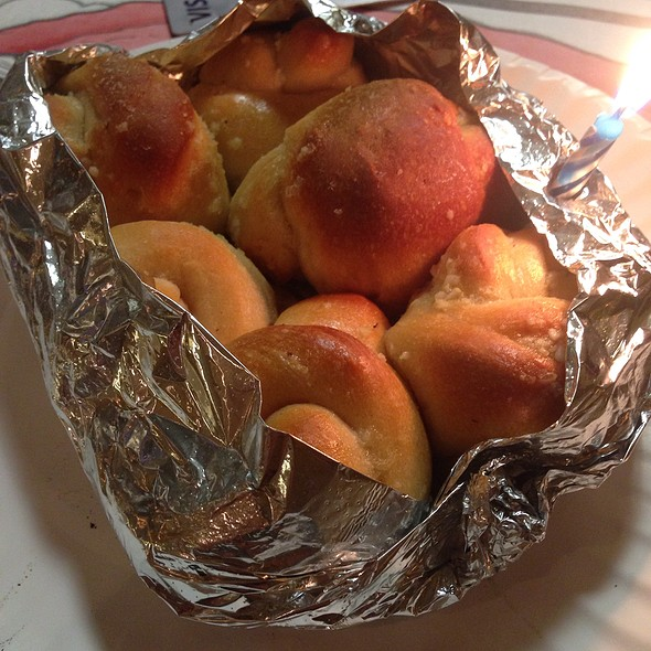 Birthday Garlic Knots @ Naples Pizzeria