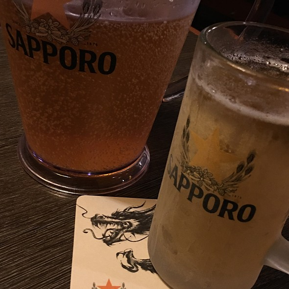 Iced Cold Sapporo Beer @ Gyu-Kaku Japanese Bbq Vancouver