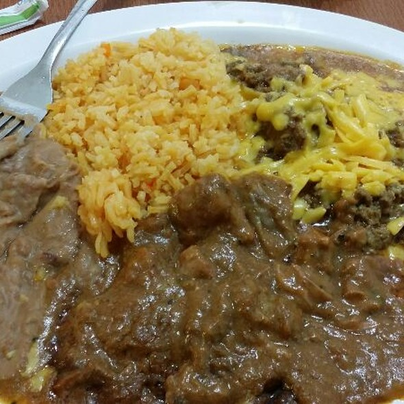 Enchilada & Carne Guisada Plate