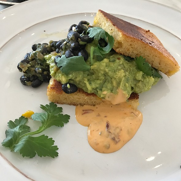Smashed Avocado, Corn Bread And Black Beans @ The Tuckshop