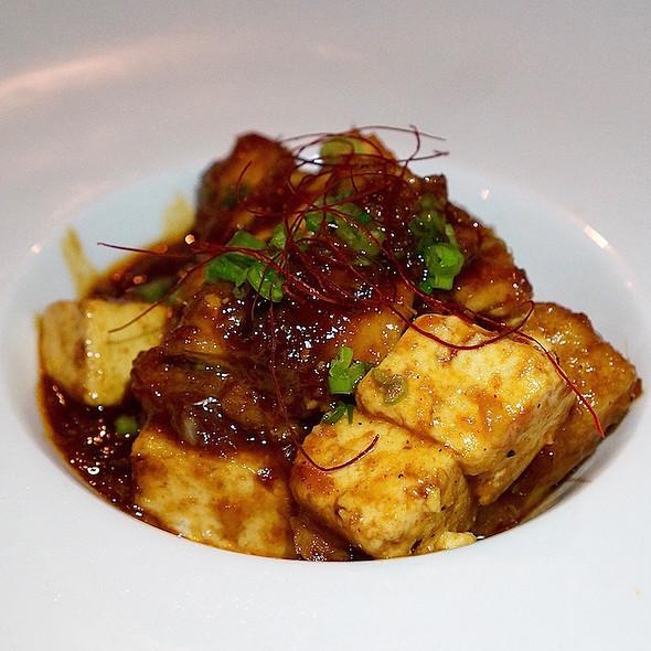Mapo tofu, lion's mane mushrooms, rice cakes, fermented bean
