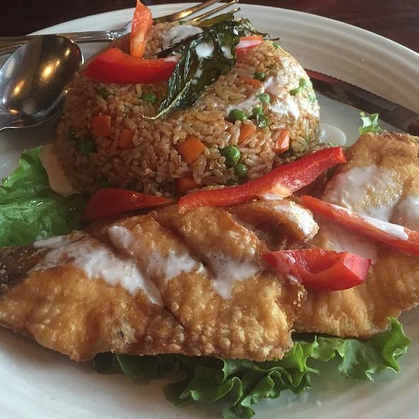 Panang Fried Rice, Fried Talapia