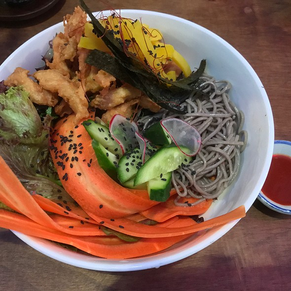 Soba Noodles (Cold Japanese Soba Noodle Salad, Crispy Chicken, Pickled Daikon, Nori, Light Soy And Sesame (Dry))