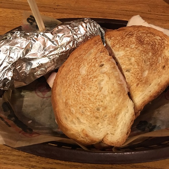 Turkey Sandwich And Fried Corn On The Cob