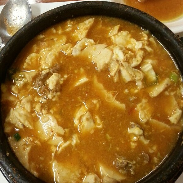 Minced Beef, Spicy Tofu & Rice @ Yei San Jib