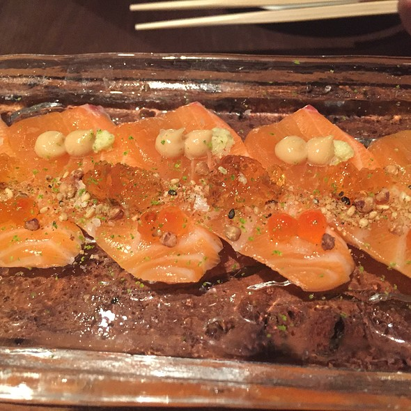 Lime And Orange Cured Salmon, Tosazu Jelly