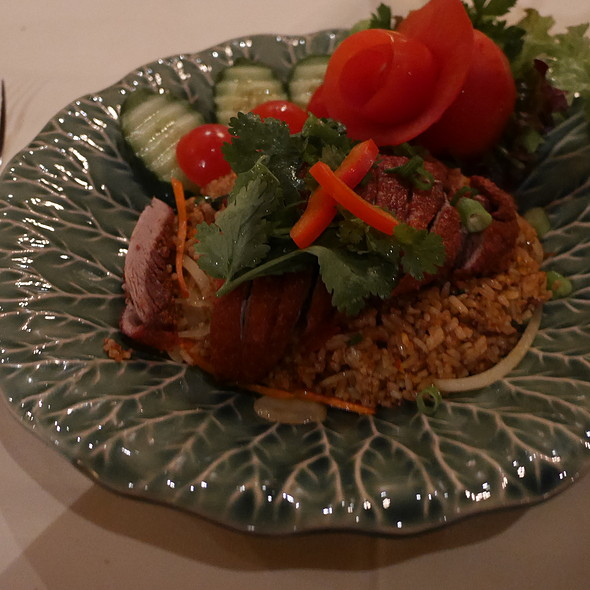 Crispy Duck With Fried Rice @ Sila-Thai