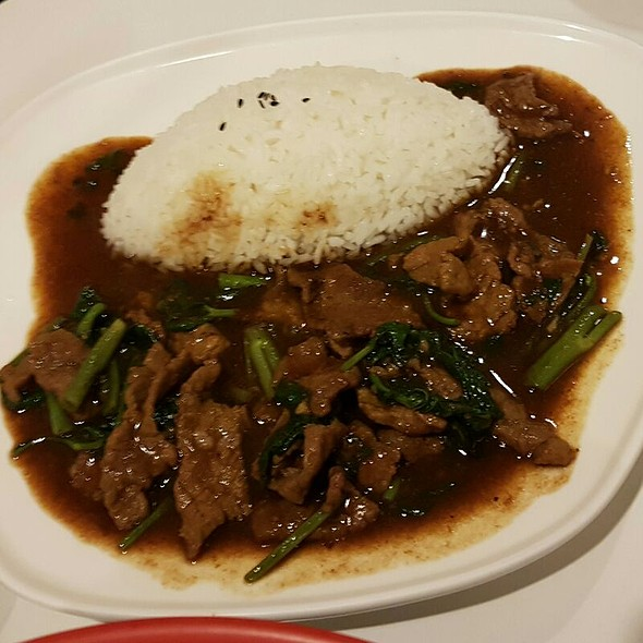BBQ Sauce Saute Beef Rice