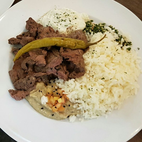 Grilled Beef Gyro Plate With Rice