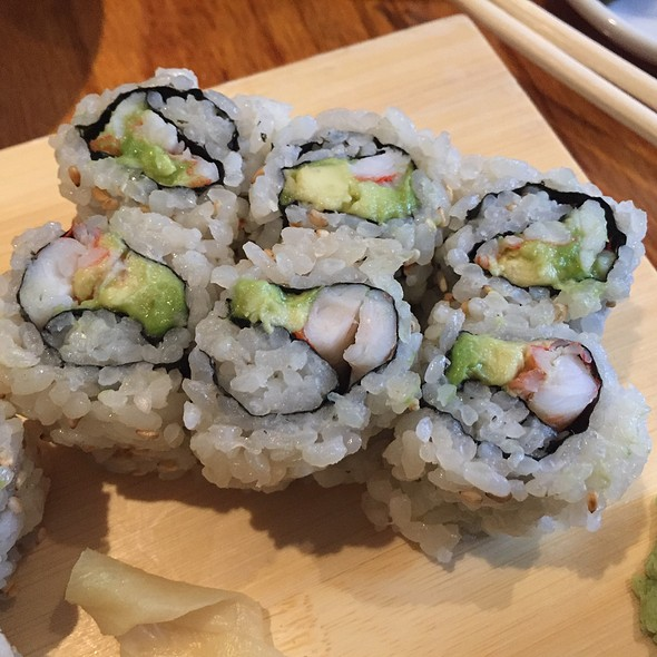 Shrimp Avocado Sushi Roll