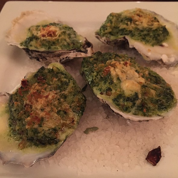 Oysters Baked On The Half Shell With Crab