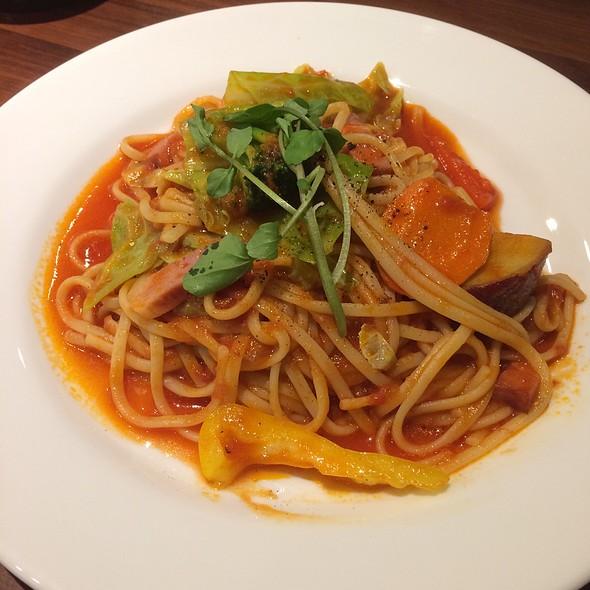 Tomato Sauce Pasta With Vegetables @ デニーズ 世田谷公園店 (Denny's)