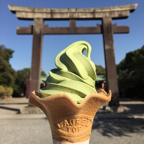 Matcha Ice Cream @ Osaka Castle Park