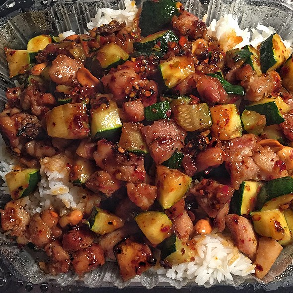 Kung Pao Chicken Rice Plate