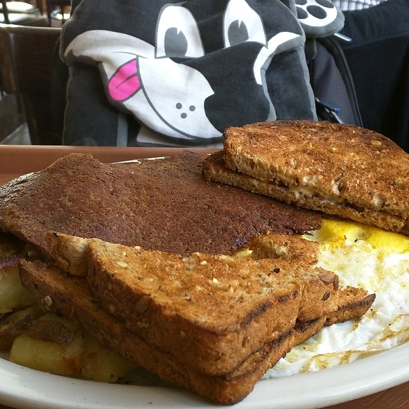 Two Eggs,Home Fries, Toast and Scrapple @ After Char-Broil & Ice Cream