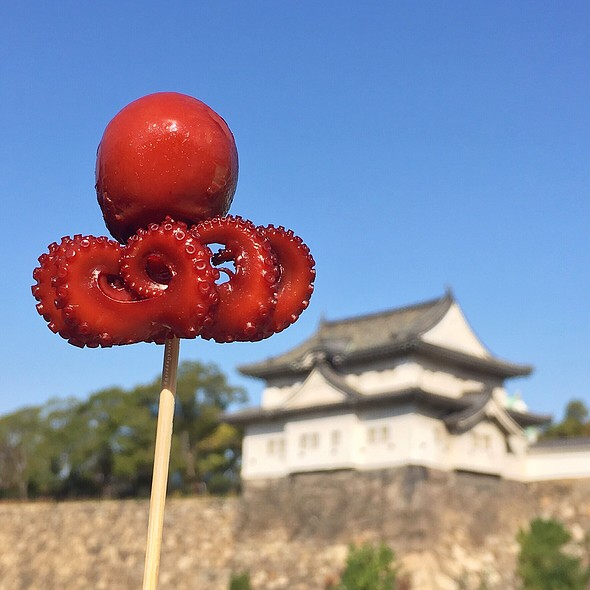 Octopus on a Stick @ Osaka Castle Park
