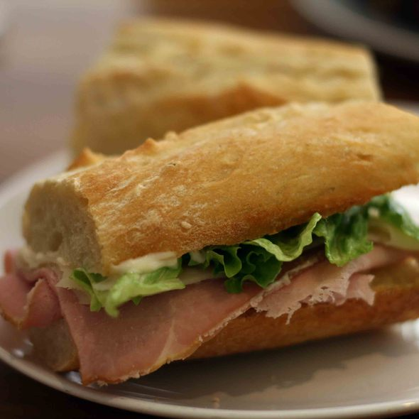 Ham And Swiss Sandwich