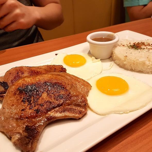 Porkchop and Egg @ Denny's Diner