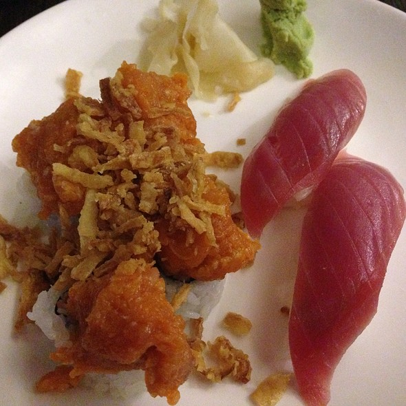 Tuna With Rice & Albacore With Crispy Onions