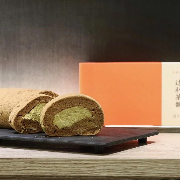 Tsujiri Roll Cake (Houjicha) @ TSUJIRI Tea House