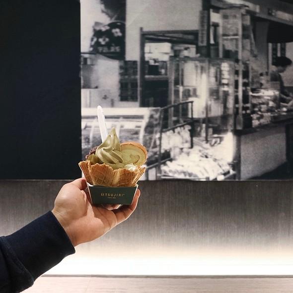 IFC Limited Edition Waffle Sundae (Houjicha) @ TSUJIRI Tea House