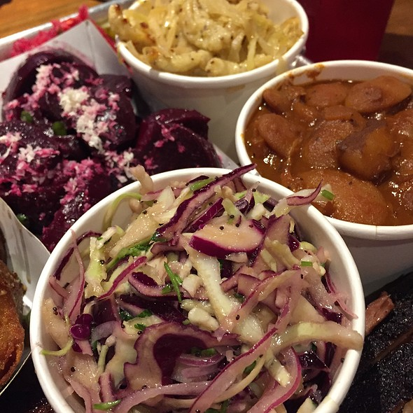 Spaetzle..Beans..Coleslaw And Beets @ Mabel's BBQ