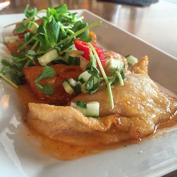 Lobster & Shrimp Potstickers @ Cru Wine Bar