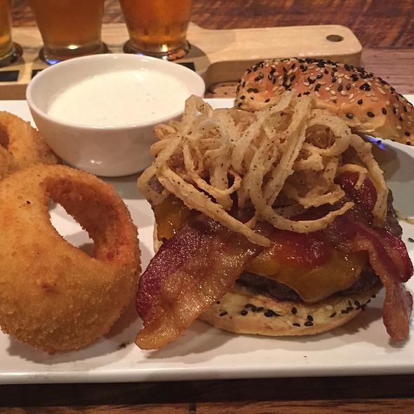 Cowboy Burger With Bacon @ Eureka! Burger, 1441 Chorro St, San Luis Onispo, Ca